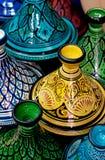 Tagines colorido marroquí Imagenes de archivo