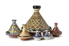 Tagines marroquinos tradicionais fotos de stock royalty free
