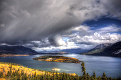 Tagish Lake, Bove Island, Yukon, British Columbia Royalty Free Stock Photos