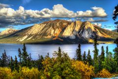 Tagish Lake, Lime Mountain, Yukon, British Columbia royalty free stock photos
