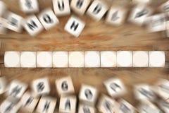Tagli con copyspace per dieci lettere o concetti di affari del testo Immagine Stock Libera da Diritti