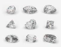 Tagli dei diamanti. Fotografie Stock Libere da Diritti