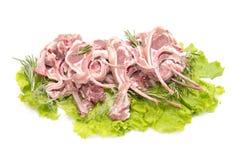 Tagli di agnello Fotografia Stock