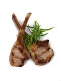 Tagli di agnello cucinati Fotografia Stock Libera da Diritti