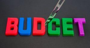 Tagli di bilancio. Fotografie Stock Libere da Diritti