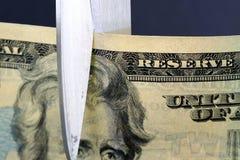 Tagli di bilancio/inflazione Immagine Stock