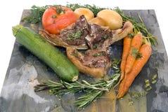 Tagli e verdure di agnello Immagine Stock Libera da Diritti