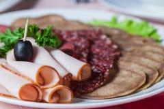 Tagli freddi appetitosi Fotografie Stock Libere da Diritti