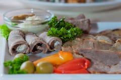 Tagli freddi appetitosi Fotografia Stock Libera da Diritti