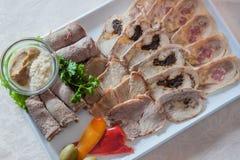 Tagli freddi appetitosi Fotografie Stock
