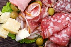 Tagli freddi delle specialità gastronomiche Fotografie Stock Libere da Diritti