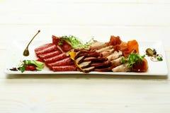 Tagli freddi o vassoio della carne Fotografie Stock