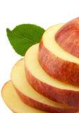 Tagli il foglio di spirito della mela Fotografia Stock