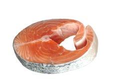 Tagli il frammento del salmone Fotografia Stock