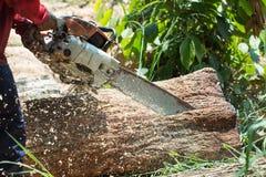 Tagli il legno con il puzzle in officina Fotografie Stock Libere da Diritti