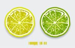 Tagli il limone Immagine Stock