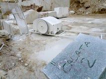 Tagli il marmo Fotografia Stock Libera da Diritti