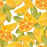 Tagli il modello senza cuciture arancio Fotografia Stock