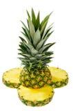 Tagli l'ananas Immagini Stock Libere da Diritti