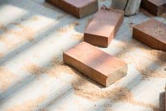 Tagli l'assicella di legno naturale fotografia stock