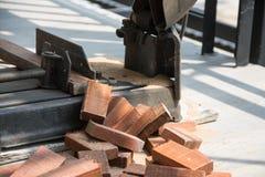 Tagli l'assicella di legno naturale fotografia stock libera da diritti