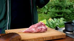 Tagli la carne di maiale cruda immagini stock
