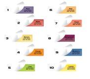 Tagli la carta, insegne di colore della frutta Fotografia Stock Libera da Diritti