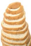 Tagli la pagnotta di pane isolata Fotografia Stock Libera da Diritti
