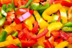 Tagli la struttura dei peperoni dolci per fondo Fotografia Stock