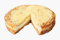 Tagli la torta di formaggio Fotografia Stock Libera da Diritti