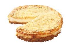 Tagli la vista laterale della torta di formaggio Immagini Stock