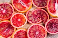 Tagli le arance siciliane Fotografia Stock