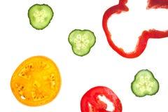 Tagli le verdure affettate crude Immagini Stock