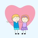 Tagli piccolo godere felice dei bambini illustrazione vettoriale