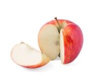 Taglia la mela rossa Immagine Stock