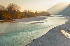 河Tagliamento 图库摄影