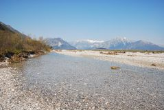Tagliamento Floodplain Royalty Free Stock Photo