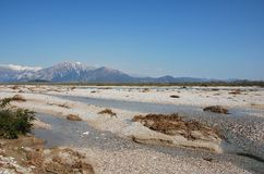 Tagliamento Floodplain Royalty Free Stock Photos