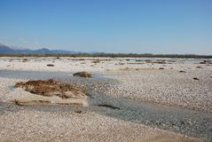 Tagliamento Floodplain Royalty Free Stock Images