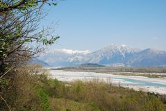 Tagliamento Floodplain Stock Image