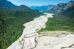 Tagliamento-Fluss Lizenzfreie Stockbilder
