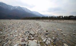 Tagliamento rzeka w Północnym Włochy Obrazy Royalty Free