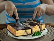 Tagliare una bibbia fotografia stock