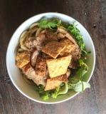 Tagliatella arrostita della carne di maiale - un genere di tagliatella vietnamita Fotografia Stock