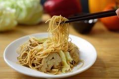 Tagliatella cinese fritta Fotografia Stock Libera da Diritti