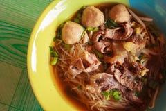 Tagliatella d'annata, alimento tailandese di stile Fotografia Stock