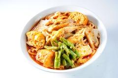 Tagliatella del curry Fotografie Stock Libere da Diritti