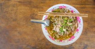 Tagliatella di alimento tailandese tradizionale Immagini Stock