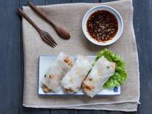 Tagliatella di riso cotta a vapore cinese Rolls Immagine Stock Libera da Diritti