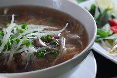 Tagliatella di riso della minestra Immagine Stock